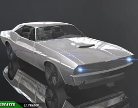 low-poly Lowpoly Dodge Challenger Racing Car 3D Model
