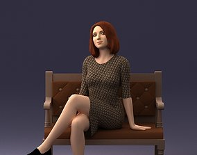 girl on a bench 0618 3D print ready figurine