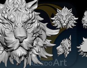 Tiger Head Number08 3D print model