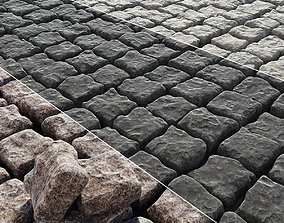 3D model Paving old stone