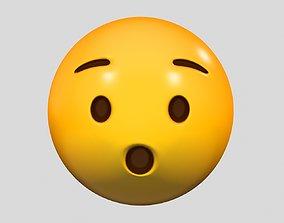 Emoji Hushed Face 3D model