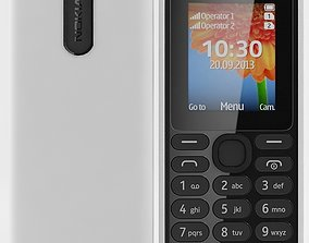 3D model Nokia 108 Dual SIM White