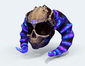 Skull Helmet 3D asset