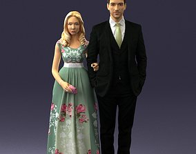 3D print model Guy and girl in colorful dress 0474