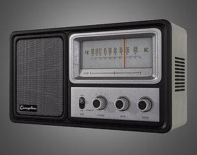 Vintage Radio - Game Ready 3D model
