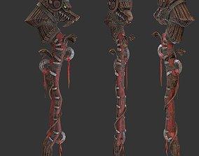 3D asset Wood Staff