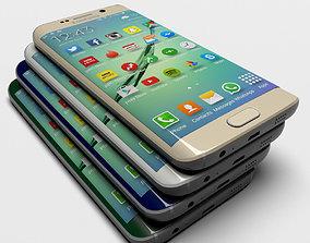 3D model Samsung Galaxy S6 Edge all colors