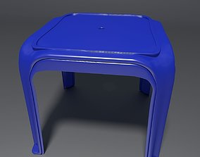 Plastic Stool 4 3D model