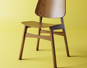 Fredericias Soborg Chair - Silla Fredericias Soborg 3D