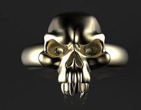 skull ring jewelry 3D print model
