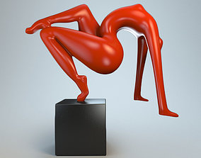 3D print model Sculpture acrobatic stunt P