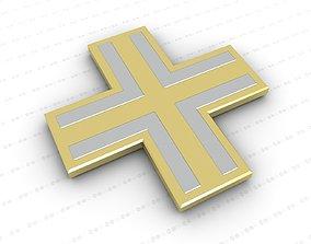 jewelry 3D model game-ready Cross