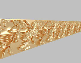 Gypsum motifs show the walls of classical architectural 3D