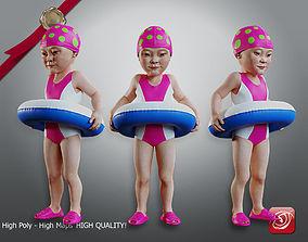 3D model Swimmingpool Child Female AAS 0203 002