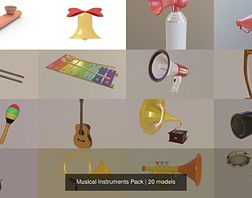 3D Musical Instruments Pack
