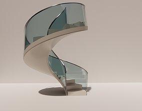 Spiral staircase 3D printable model