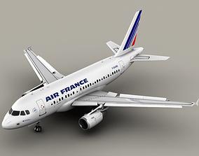 3D model Airbus A318 Air France