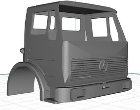 3D printable model Mercedes 1632 Truck Body Cab