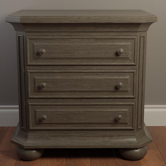 Rough Wood Nightstand