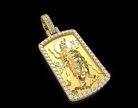 3D printable model Guan Gong Diamond Pendant