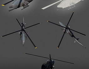 Apache Helicopter lowpoly 3D asset
