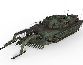 Tank Abrams MinePlow Extra Defense Woodland BR 3D model