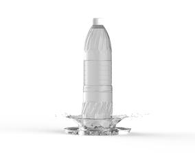 Water Bottle - Splash 3D model