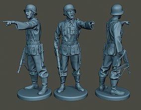 German soldier ww2 warning G2 3D printable model