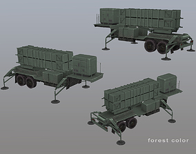 MIM-104 Patriot M903 Launcher Trailer 3D model