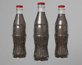 Cola Glass Bottle Model 3D