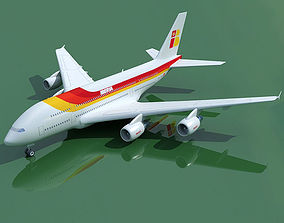 Airbus A380 Iberia 3D