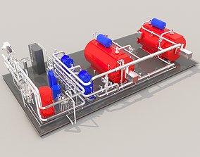 engineering 3D Industrial boiler room