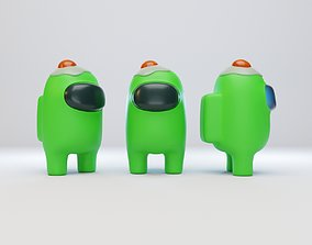 3D model Among Us Egg Hat Character
