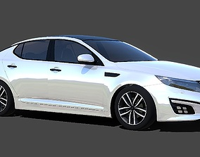 Auto 3D model Kia Optima low-poly 3d
