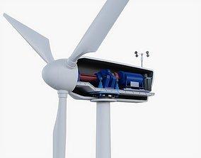 Wind Turbine 3D model rigged