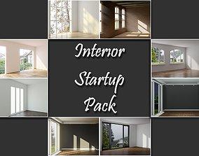 3D model living Interior Startup Pack