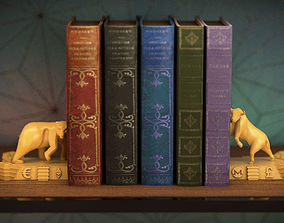 Bookends Sculpture The Market 120mm 3D printable model