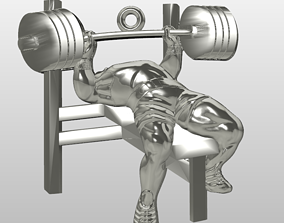 3D print model Bench press GYM athlete pendant
