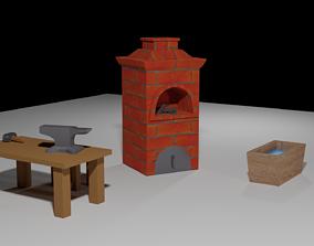 3D model Forge set