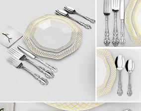 classic spoon set 3D