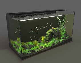 Aquarium rectangle 120l 3D