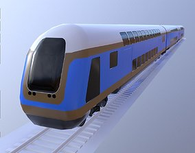 3D model Bombardier Train