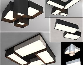 Ceiling lamps set 008 3D