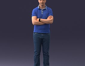 3D model Man in casual clothes 0506 jeans