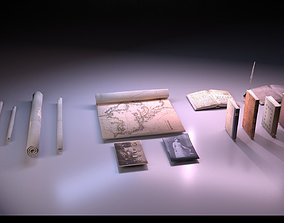 3D model Papers and Books Pack - The Marquis Collection