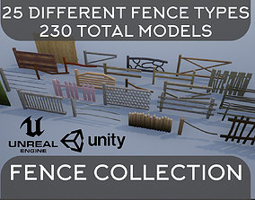 3D Wooden Fence Collection