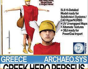 Ancient Greek Hero Perseus 3D