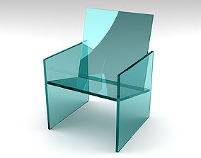 Glass Armchair - 3d Max model realtime