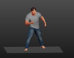 3D model Body Builder Strong Man