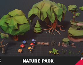 3D asset low-poly Nature Pack